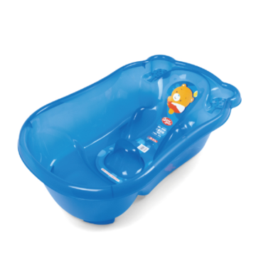H8309 Big Transparent Infant Bathtub With Injected Bathbed
