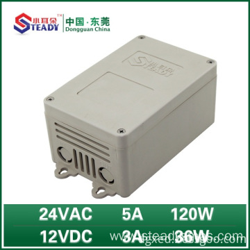 Outdoor power supply 24VAC 5A 12VDC 3A