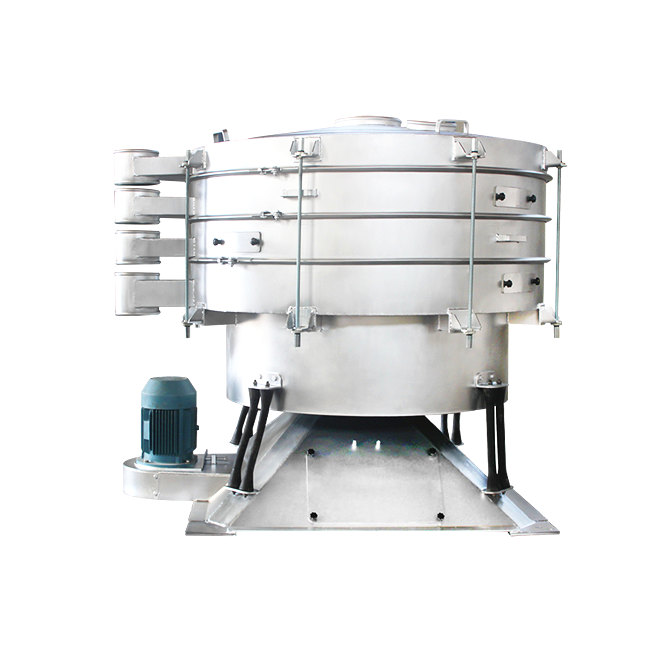 Vibrating tumbler screen sieve for spice herbs