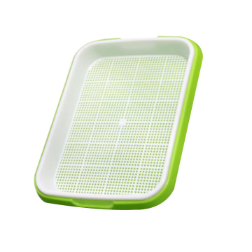 Plastic Nursery Pots Sprouter Tray PP Soil-Free Big Capacity Wheatgrass Grower Seedling Tray Sprout Plate Hydroponic Basket