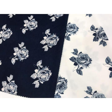 Retro Style Cotton Stretch Printed Fabric