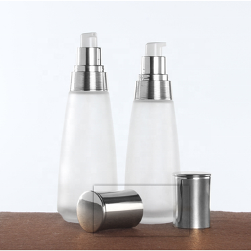 Frosted Glass Cosmetic Bottle And Jar
