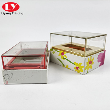 creat design lipstick with clear lid perfume box