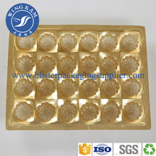 Recyclable Gold PET Plastic Chocolate Tray
