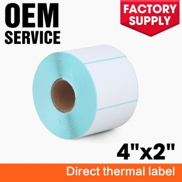 Removable direct thermal sticker 2x4 shipping address label