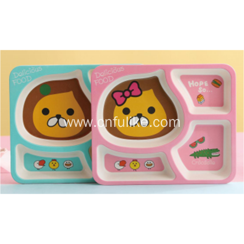 Bright Color Bamboo Plates for Toddler