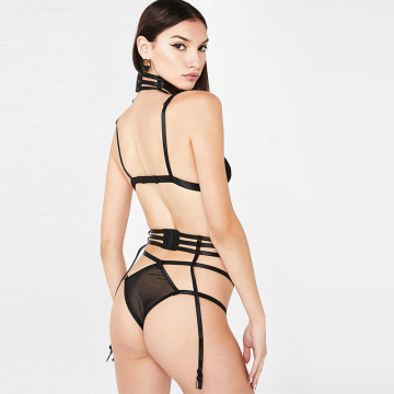 customize 2 pcs transparent lace sexy lingerie set
