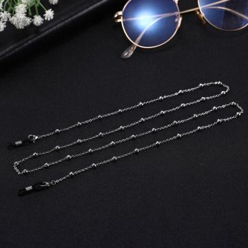 Teamer 78cm Beaded Eyeglass Chains Women Stainless Steel Sunglasses Chain Cord Holder Neck Strap Rope Reading Glasses Lanyards