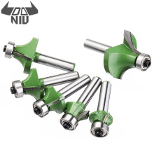 DANIU 6Pcs 8mm Shank Milling Cutter Router Bit Round Chamfer Edge Forming Router Bit Woodworking Cutter Engraving Cutting Tools