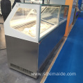 8 Pans Ice Cream Freezer Showcase Dipping Cabinet