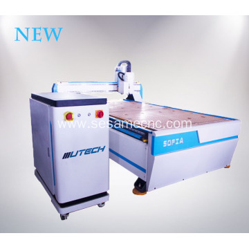 CNC Router with CCD Camera Oscillating Knife