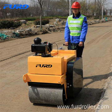 Construction 550kg Walk Behind Double Wheel Road Roller