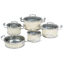 10PCS Cookware Set Stainless steel