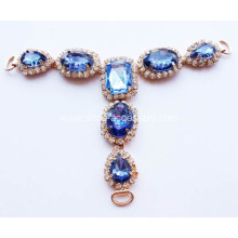 Blue Gem Stone Embellished for T Bar Sandals
