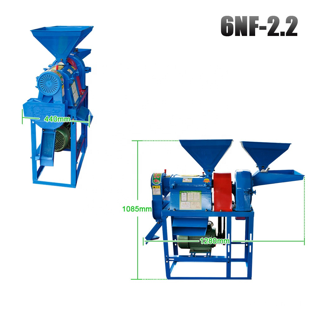 Nongyou home use 150kg/h rice polishing machine rice milling equipment