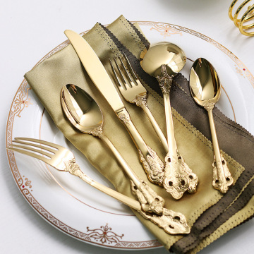 Hotel Gold Spoon Fork Knife