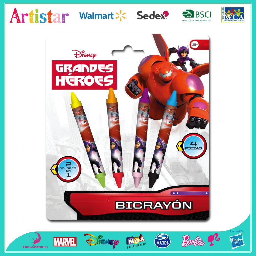 DISNEY BIG HERO 4 Double-sided crayons