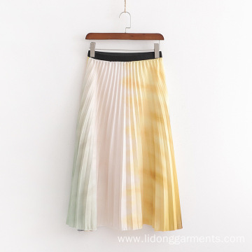 Customized Printed Pleated Skirt with High Quality