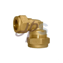 Brass compression 90 Reducing double elbow fitting