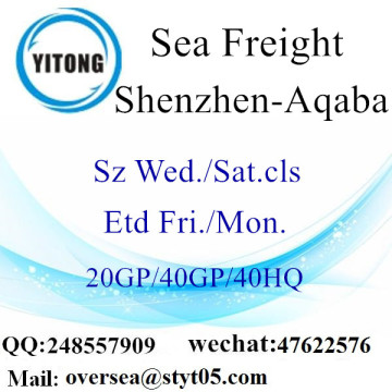 Shenzhen Port Sea Freight Shipping To Aqaba