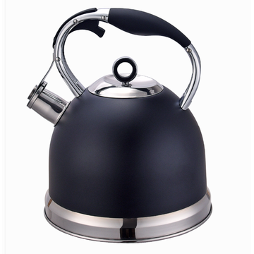 pour over spout tea kettle black color