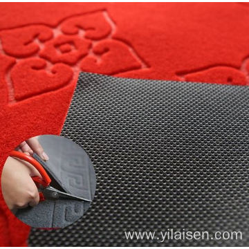 Commercial logo design polyester waterproof floor mat