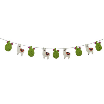 Llama Birthday Party Banner bunting flags Decoration
