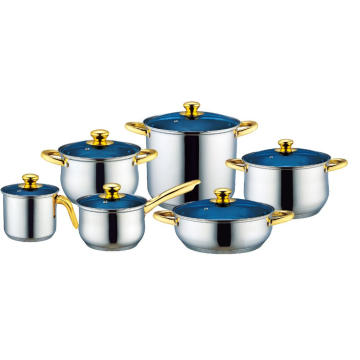 Stainless Steel Cookware Set with Milk Pot