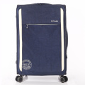 printed nylon spinner trolley soft luggage