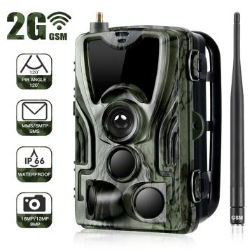 HC801M 2G Hunting Camera 16MP Trail Camera SMS/MMS/SMTP IP65 Photo Traps 0.3s Trigger Time Camera Trap Wild Video Cameras