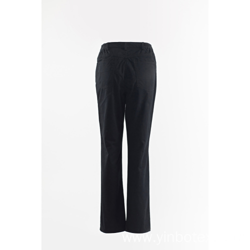 Ladies solid navy trousers