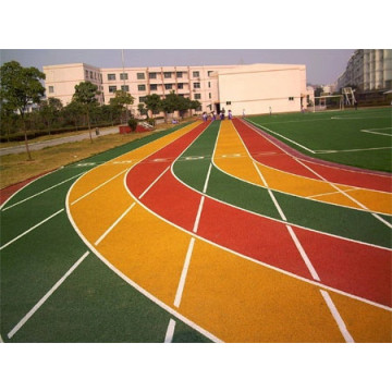 Anti-yellowing PU Courts Sports Surface Flooring Athletic Running Track