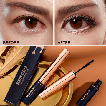 BEAUTY GLAZED 3D Silk Fiber Lash Mascara Waterproof Mascara For Eyelash Extension Black Thick Lengthening Eye Lashes Cosmetics