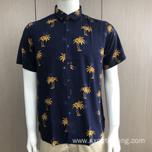 Custom men's print short sleeve shirts
