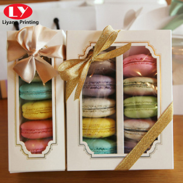 Various Macaron Cake Boxes With Customized Logo Printed
