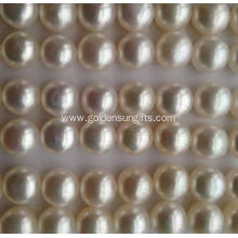 9-9.5mm Flat Round Shaped Matched Pearl Loose Beads