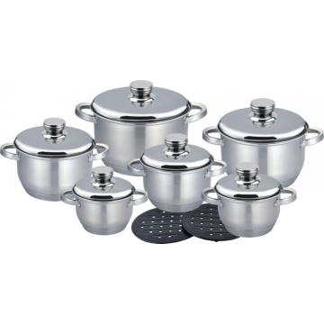14pcs Saucepot with ss lid Mexico