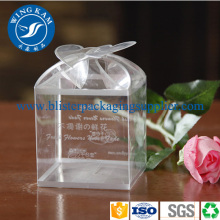 Transparent Clear Plastic Box with Flower Hanger