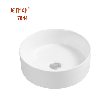 Chaozhou factory round ceramic  countertop art basin
