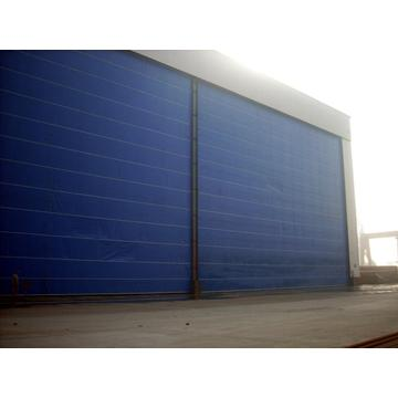 PVC high speed rolling up fabric door