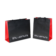 Luxury Black FSC Embossing Paper Bag with Ropes