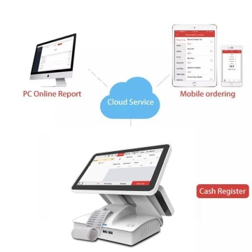 Traditional Dual Touchscreen POS for food beverage usage