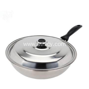 201 Stainless Steel Pan with Lid for Cooking