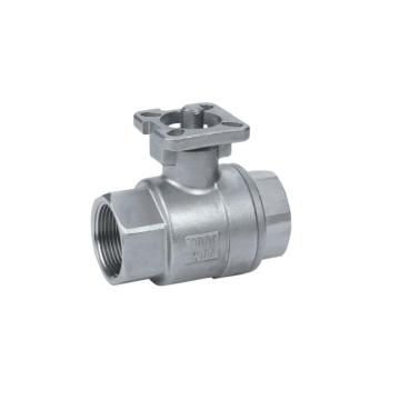 2 Piece Ss304 Ball Valve with Mounting Pad