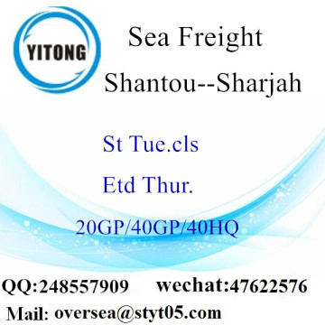 Shantou Port Sea Freight Shipping To Sharjah