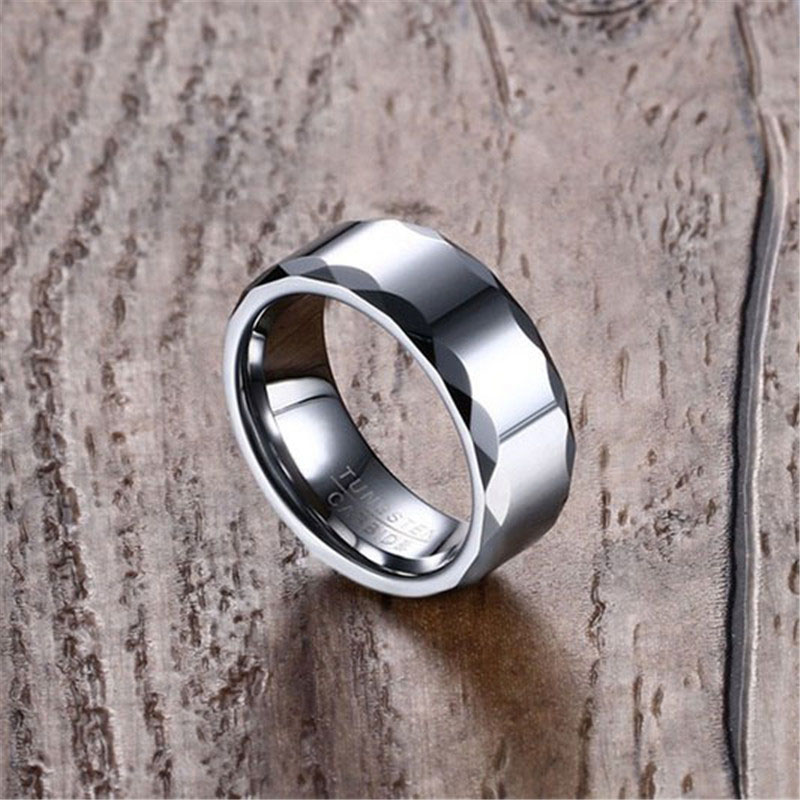 Tungsten carbide engagement wedding rings for him