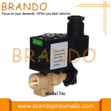 Manual Adjustment 2/2 Way 1/4'' Gas Solenoid Valve