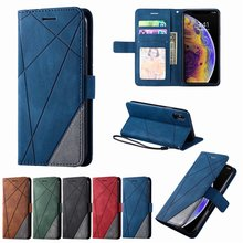 3 Card Slot Flip Business Case For Huawei Honor 10 Lite 9 Lite P40 Pro P30 P20 Lite Nova 3e 5i Pro Rhombus Leather Wallet DP21G