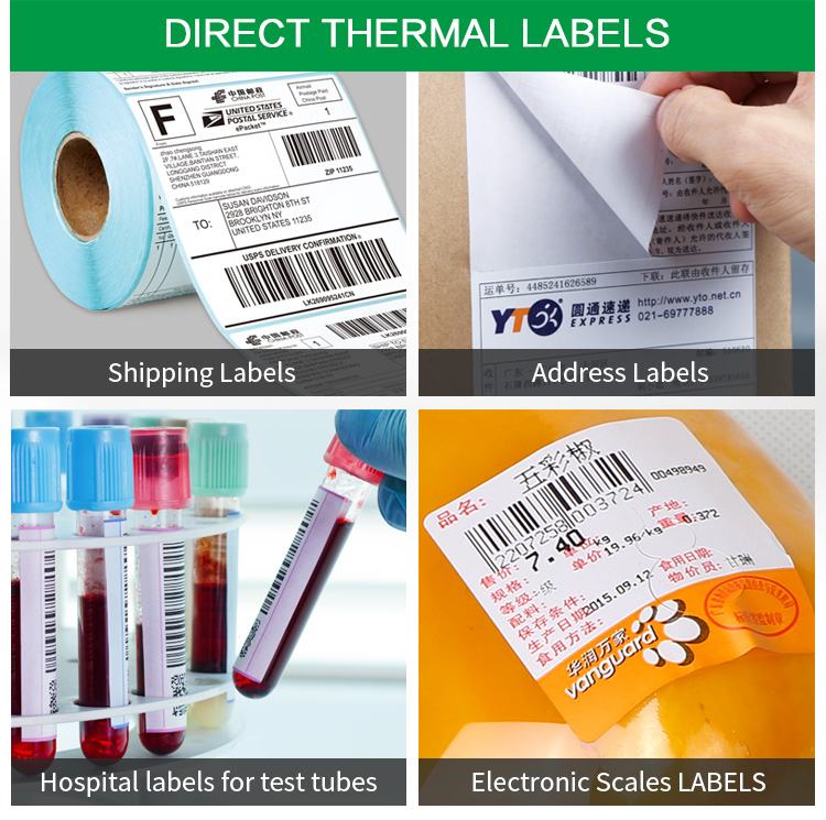 Blank thermal shipping label