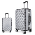 Shiny business luggage trolley travel bag